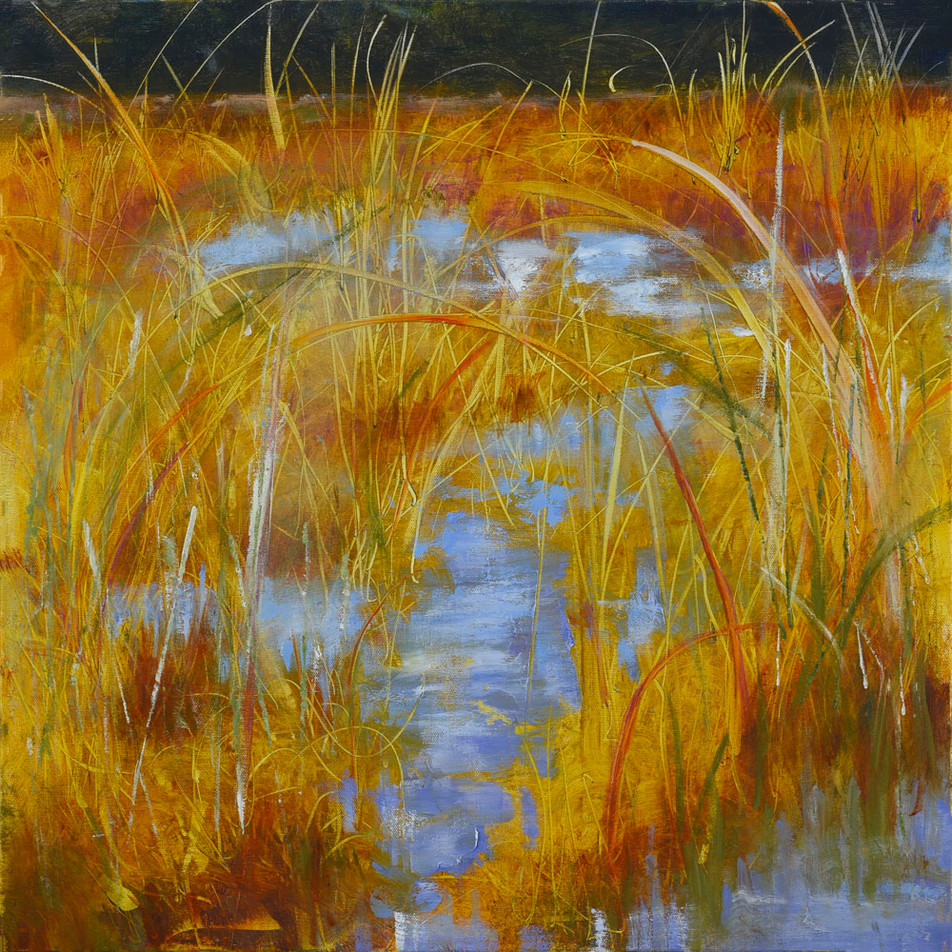 14. Golden rushes on blue water