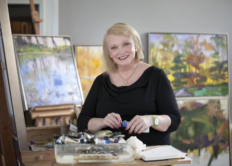 Jan Dilenschneider in her studio