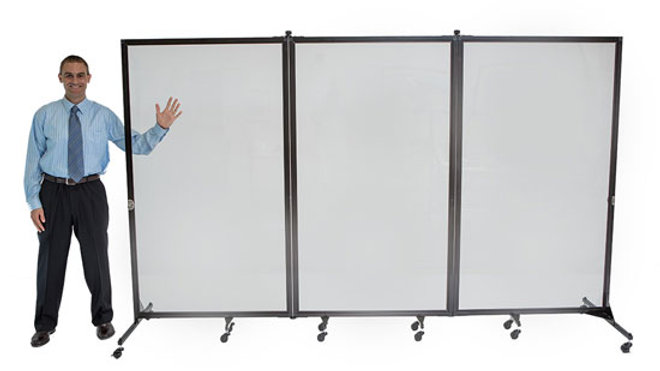 Screenflex - 3 Panel Clear Divider