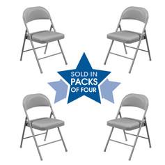 Steel Folding Chair Set of 4