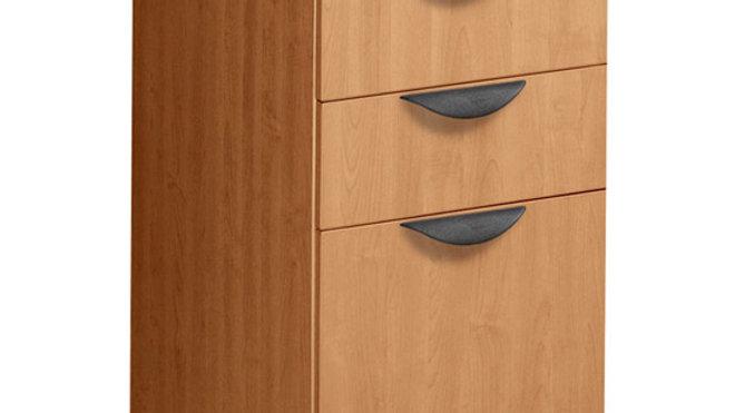 3-Drawer Mobile Pedestal -box/box/file