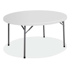 Round Resin Folding Table