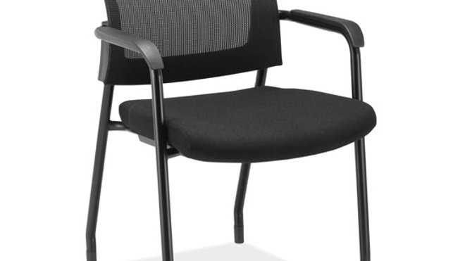 Parson Micro Mesh Back Side Chair with Arms