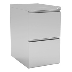 2 Drawer Metal Pedestal