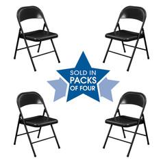 Steel Folding Chair Padded Set of 4