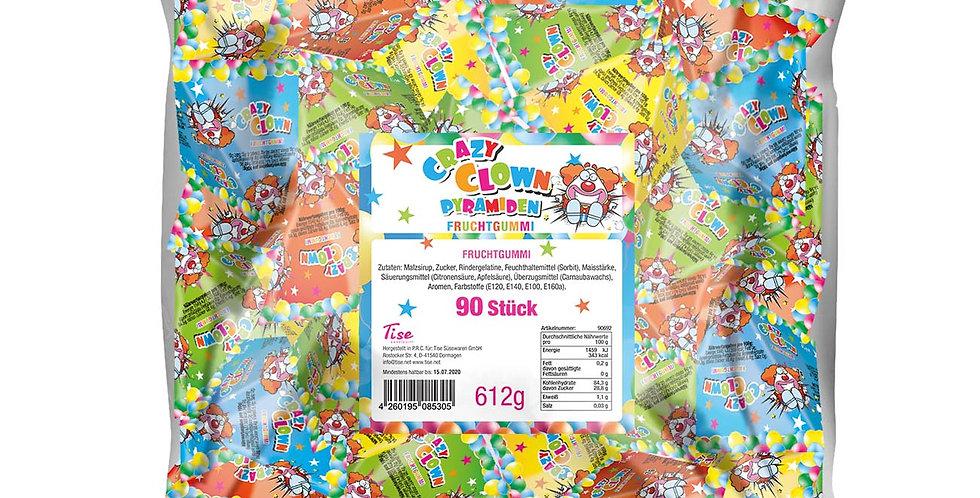 Crazy Clown Fruchtgummi Pyramiden 90 Stück