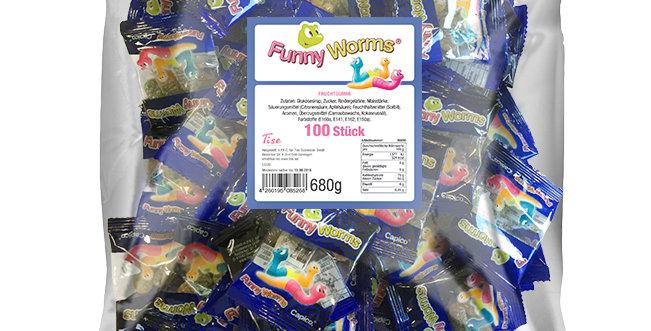 Funny Worms Fruchtgummi 100 Stück