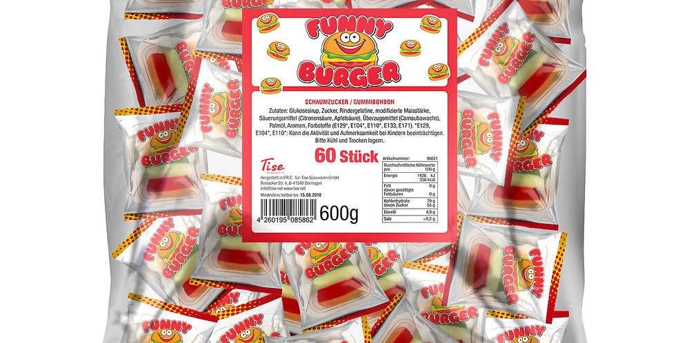 Funny Burger Fruchtgummi 60 Stück