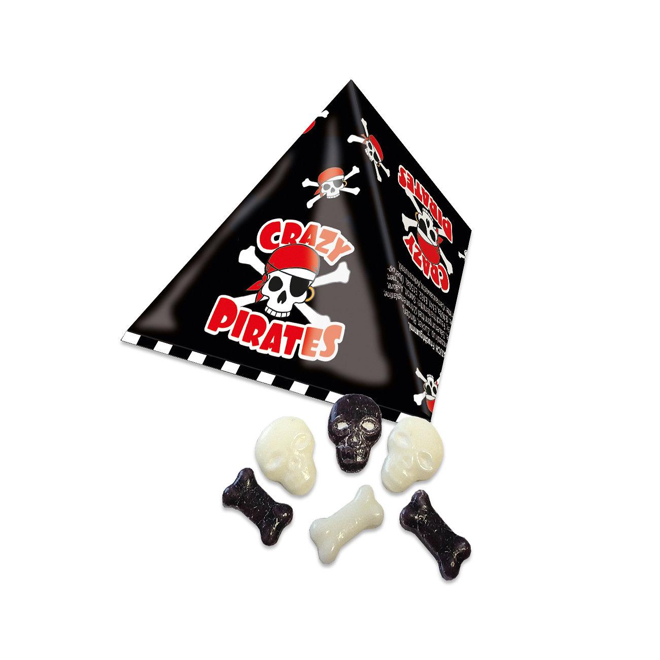 Crazy Pirates Knochen und Schädel Traubenzucker 100 Stück Wurfmaterial