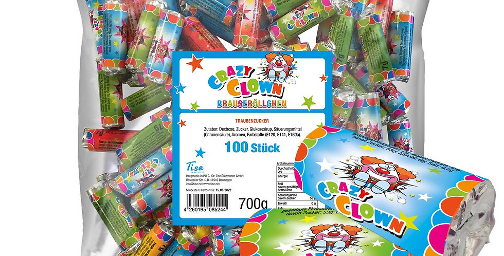 Crazy Clown Brauseröllchen 100 Stück