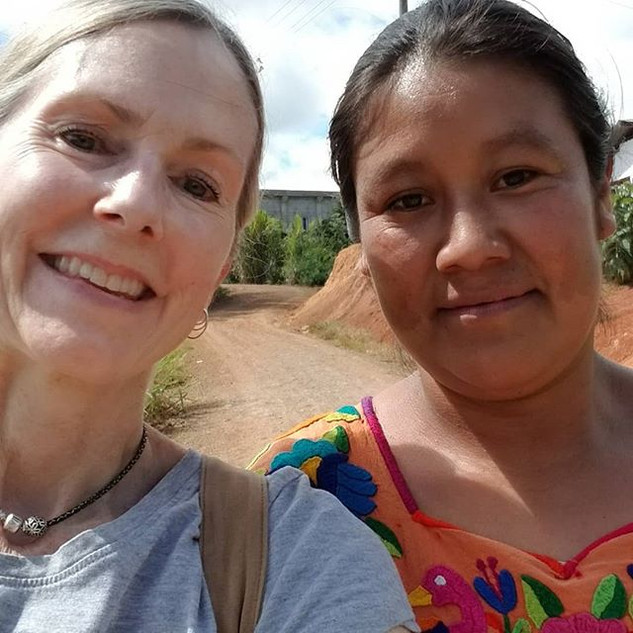 """We couldn't communicate verbally very well at all but we did figure out that we have the same name ... meet my new friend """"Maria"""" (Spanish for Mary)! Maria's family is one of the families who we prepped for building a water cistern to capture the rainfall during the rainy season to water the crops in the dry season. Without a cistern crops typically do not thrive and food supply is depleted as a result."""
