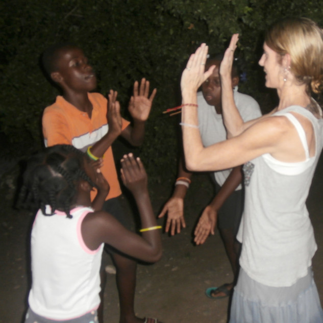 One night the children taught me a clapping game ... without knowing each other's language we were able to communicate effectively enough to engage in a game together ... an experience I will truly never forget!!