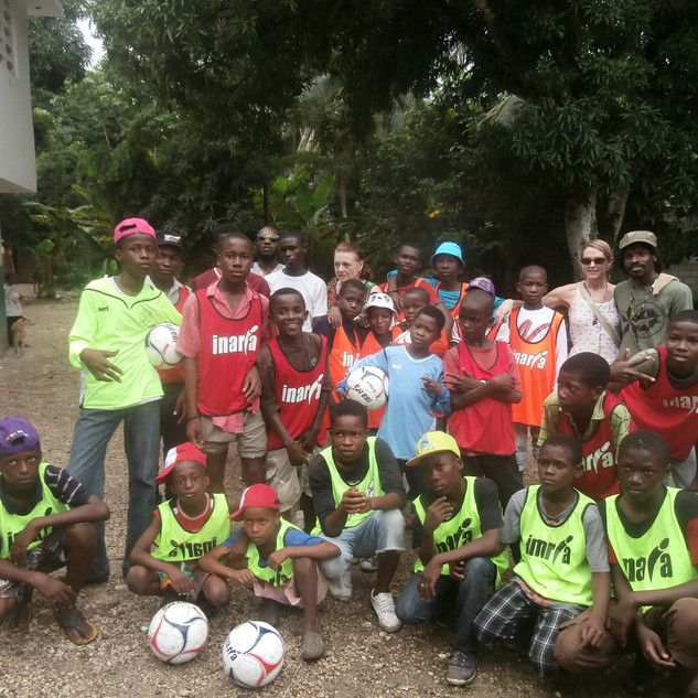 One of the donations I received was soccer balls and soccer uniforms. While it may not appear it in this picture (as smiles seem to not be happening for some reason) the children LOVED feeling like a real part of a real soccer team (see videos on YouTube).