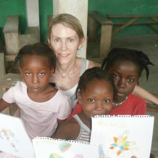 Some of the girls had never held a crayon before coming to our Saturday program.
