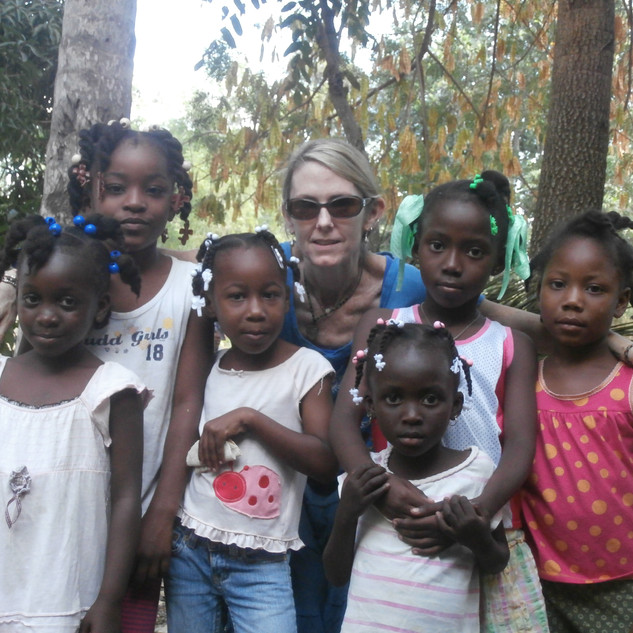 """Me and some of """"my girls"""" in the mountain in Tigoave (short for Petit Goave)."""