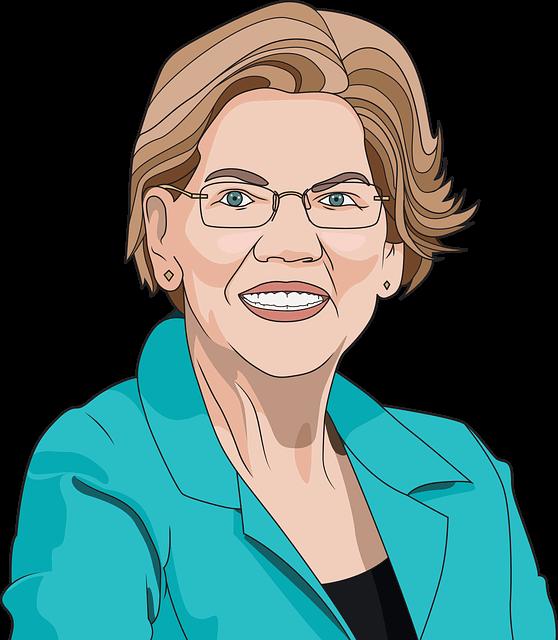 illustration of Senator Elizabeth Warren