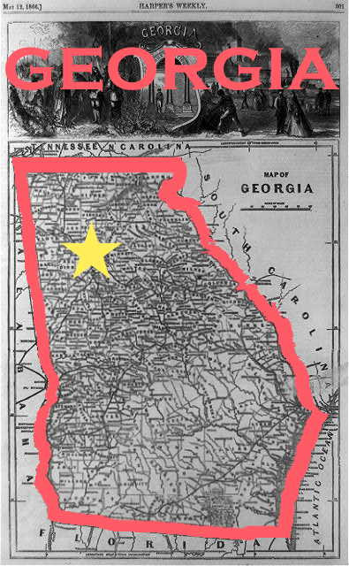 edited map of georgia originally from Harpers source Library of Congress