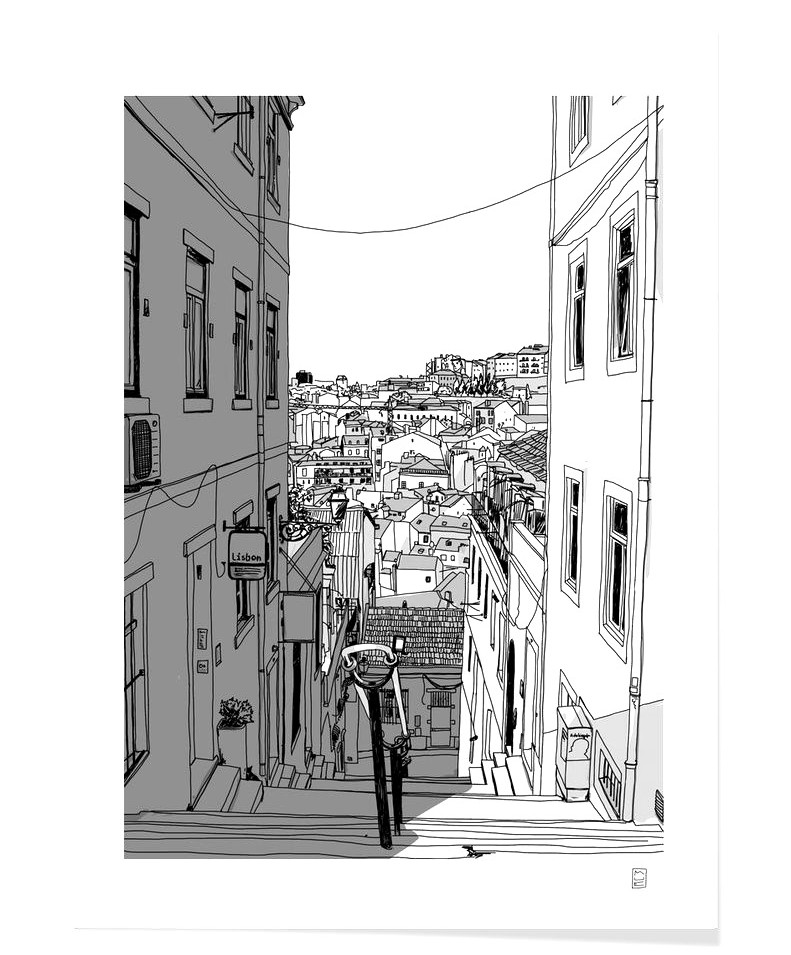 %C2%ABLisbon_City%C2%BB_Art_Print_by_Mue