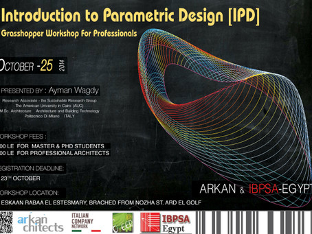 INTRODUCTION TO PARAMETRIC DESIGN [IPD] Grasshopper Workshop For Professionals