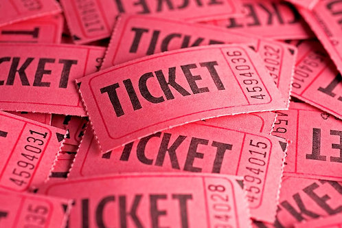 PINK AND TEAL BREAST CANCER RAFFLE TICKET