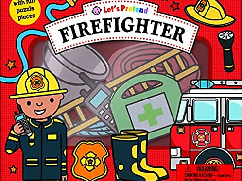 FIREFIGHTER PUZZLE BOOK PLAY SET