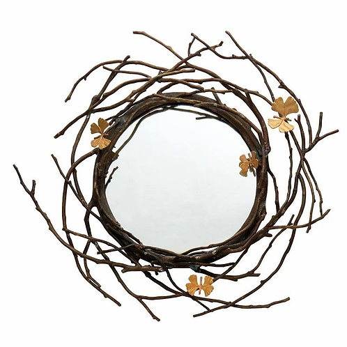 "MICHAEL ARAM 24"" BUTTERFLY MIRROR"