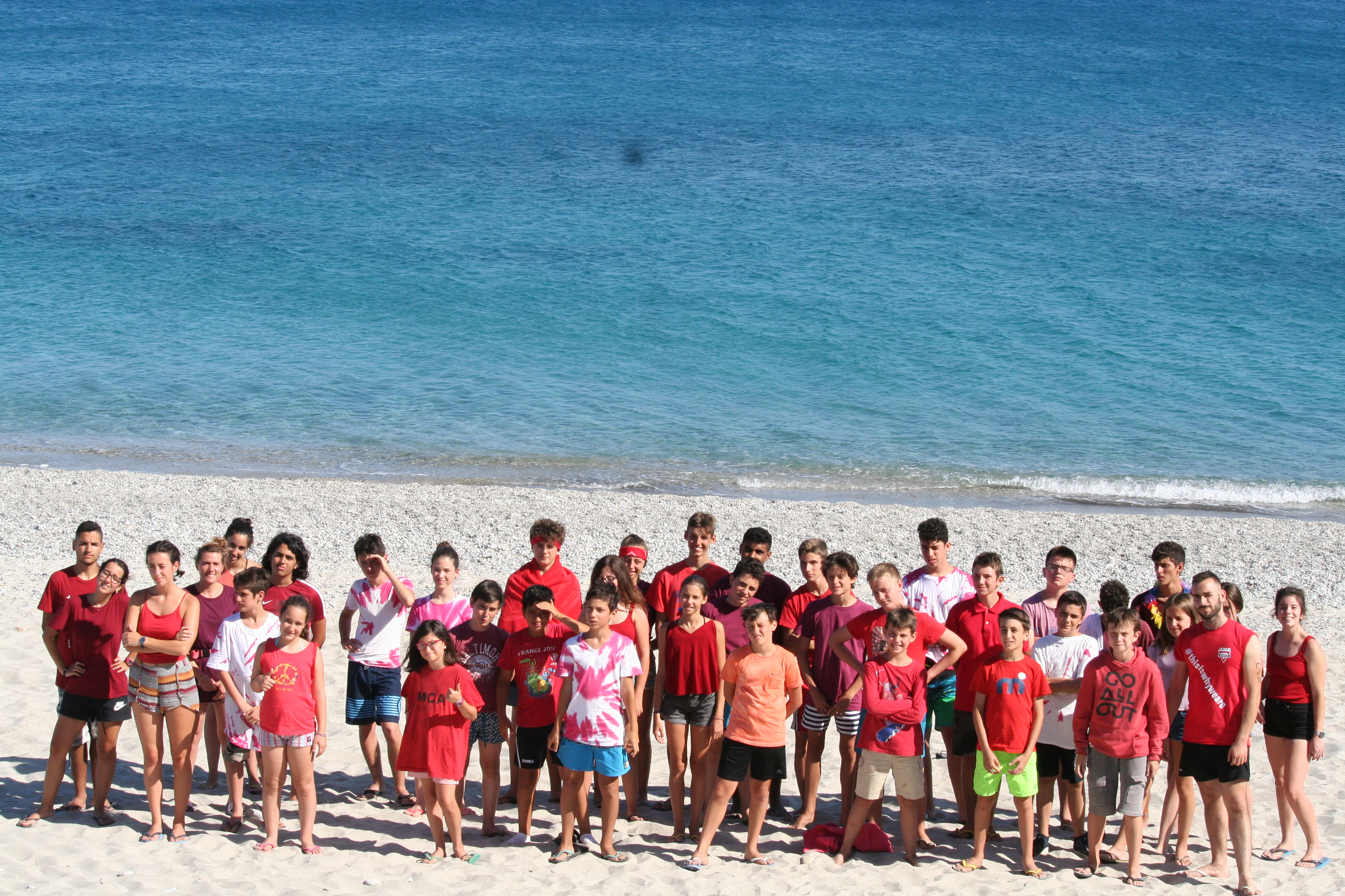 summer camp in spiaggia
