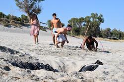 campo estivo al mare in spiaggia