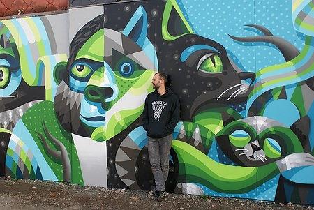 大阪の街を彩るウォールアートのデザイン依頼ならWALL SHARE