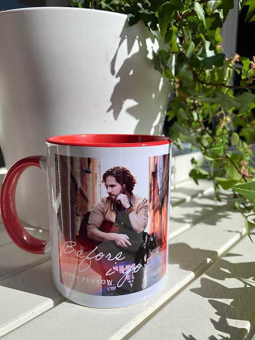 """""""BeforeI Go"""" and """"Protected Love""""Mug Red"""