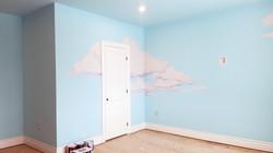 cloud room mural