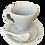 Thumbnail: Dupla De Xícaras De Cerâmica C/ Pires E Colher