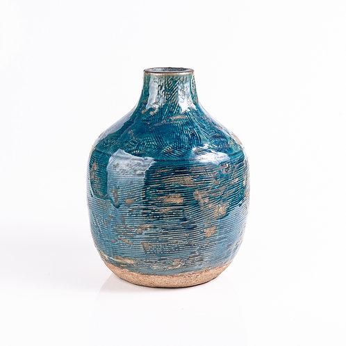 Vaso de Cerâmica Azul G
