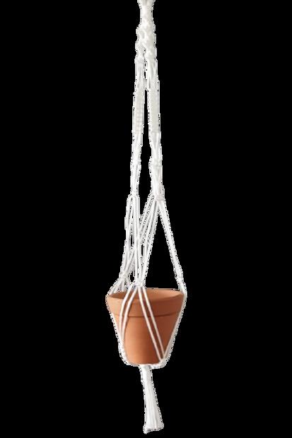 Hanger De Macramê Branco