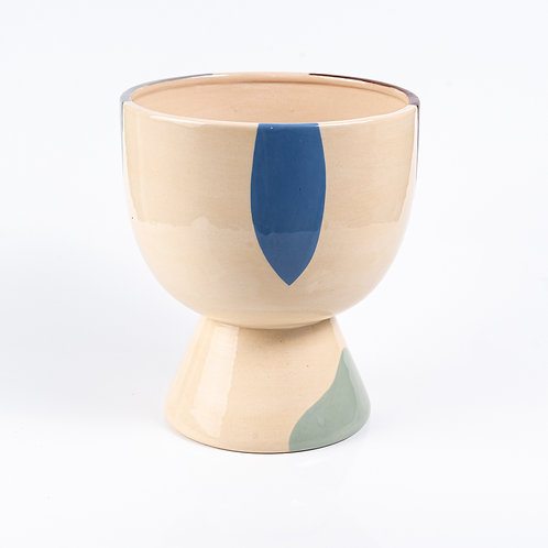 Vaso Alto de Cerâmica Abstrato