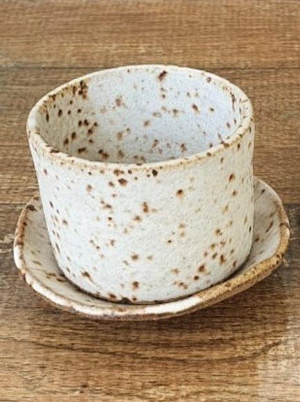 Dupla De Xícaras E Pires De Cerâmica Para Café