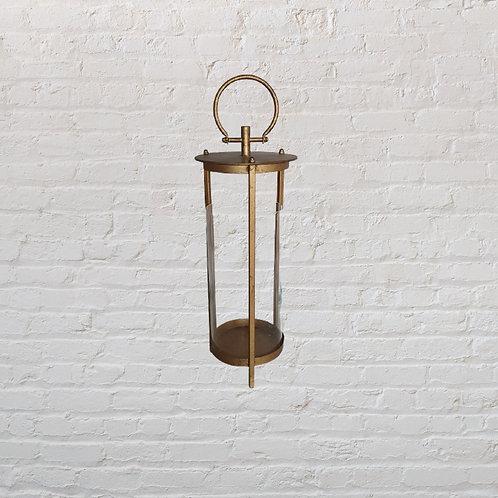 Lanterna decorativa de Ferro Ouro Velho