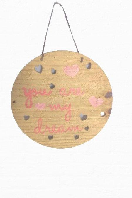 Placa Decorativa Pinus - Redonda