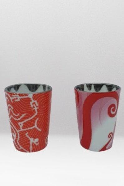Xícaras De Porcelana Sem Alça (Par)