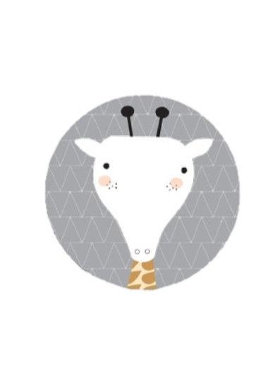 Quadro Infantil Girafa