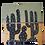 Thumbnail: Banqueta Quadrada Cactos Pintada A Mão