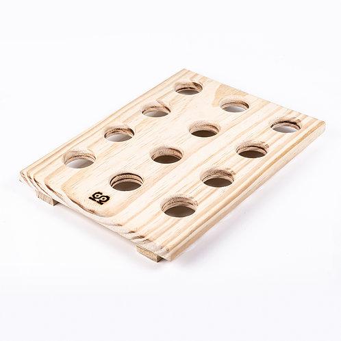 Porta Ovos de madeira pinus - 12 lugares