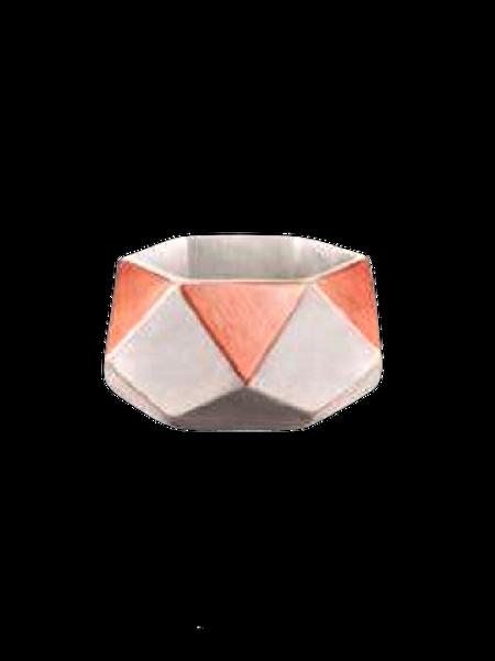 Cachepô em Cimento Triângulos Gold