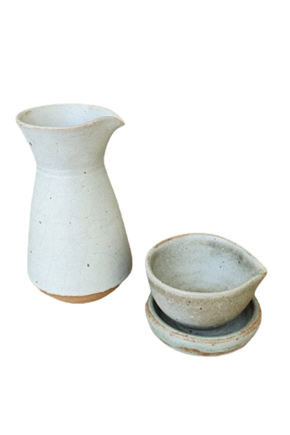 Kit Galheteiro De Cerâmica (3 Pçs)