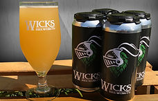 Take your favorite Wicks beer to-go in 16oz cans
