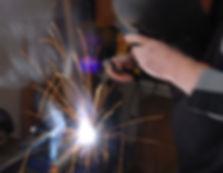 Garage door repair workshop- welding