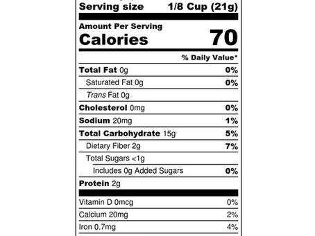 We've Added Nutritionals!