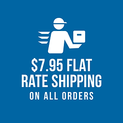 $7.95 FLAT RATE SHIPPING ON ALL ORDERS