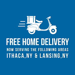 Free Home Delivery Now Serving the Ithaca, NY & Lansing, NY