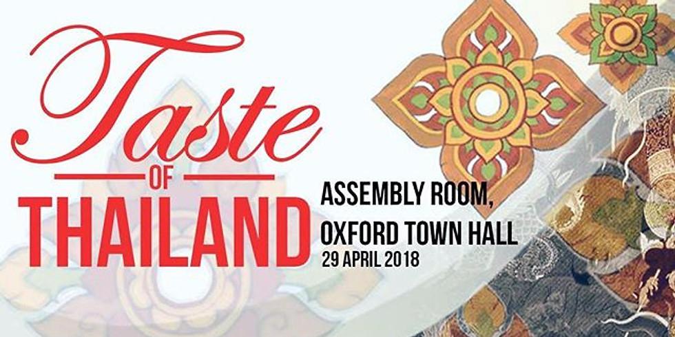 Taste of Thailand - Oxford Thai Night 2018